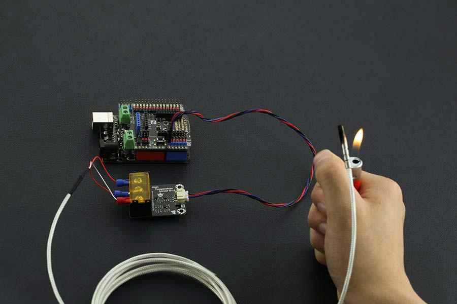 Sensor analógico pt de alta temperatura rogerbit