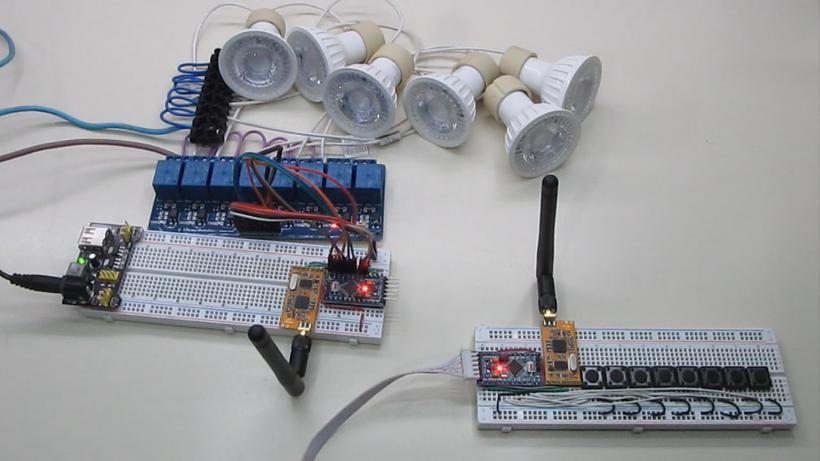 Como Encender Luces Con Módulos De Radiofrecuencia Apc220 Y